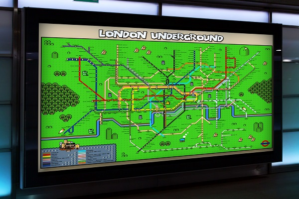 La carte du métro de Londres en mode Super Mario