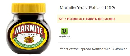 WANTED : Marmite !