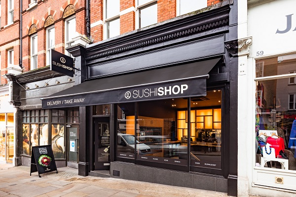 nouveau sushi shop à hampstead