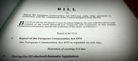 Publication du European Union (Withdrawal) Bill par le Gouvernement : première analyse
