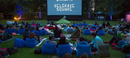 Cinéma en plein air, de Belgravia à Mayfair