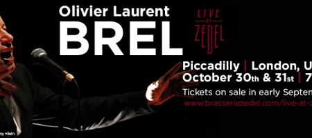 Olivier Laurent interprète Jacques Brel à Londres