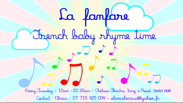 New in Chelsea!French Baby rhyme time illustration