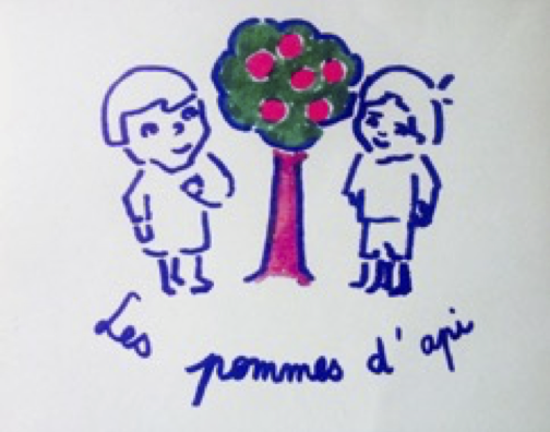 Les pommes d'api offers private tuition for children registered in a distance learning scheme such as CNED, and GCSE French preparation.  illustration