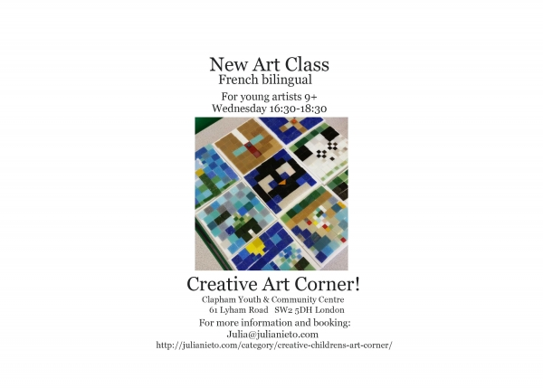 Wednesday Arts and Crafts class in Clapham illustration
