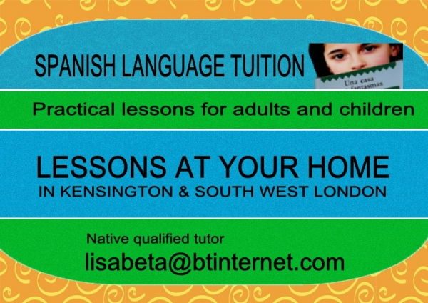 SPANISH (EUROPEAN) TUITION, PRACTICAL LESSONS FOR ADULTS AND CHILDREN illustration